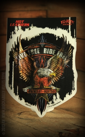 Sticker - Live Free Eagle Biker