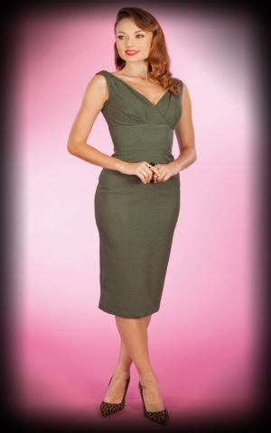 Stop Staring Dress Lucia, olive green