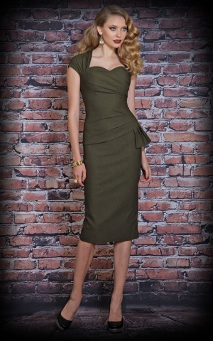 Stop Staring Dress - Uma, army green