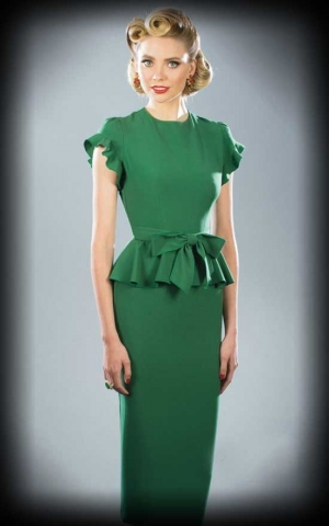 Stop Staring Cocktail Dress Willow with bow, green