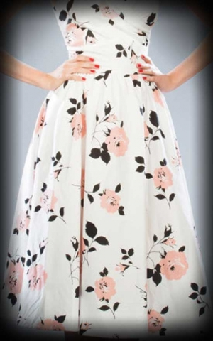 Stop Staring Summer Dress with flowers, white