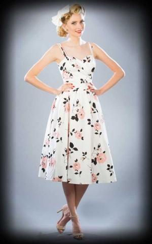 Stop Staring Sommer Kleid mit Blumen, weiß