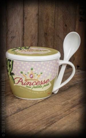 Suppentasse mit Löffel - Princesse au petits pois