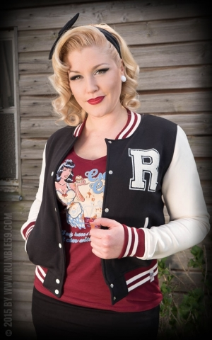 Rumble59 - Sweat College Jacke - schwarz