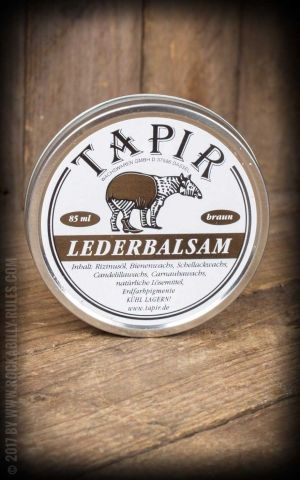 Tapir - Leather balm brown, 85ml