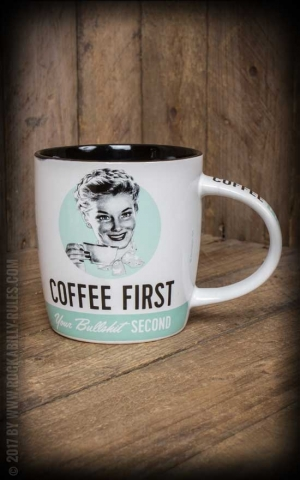 Vintage Mug Coffee First