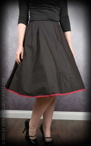 Petticoat Skirt - Polkadots - black/red