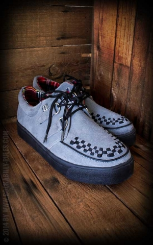 TUK Grey Suede 2 Ring Creeper Sneakers
