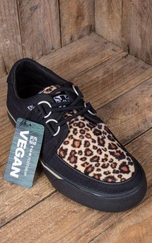 TUK VLK D Ring Creeper Sneaker, Black Leopard