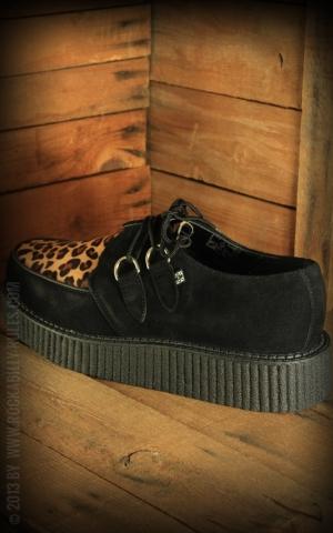 TUK Creeper - Black Suede & Leopard