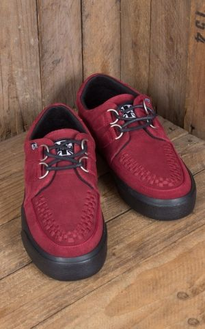TUK VLK Creeper Sneaker 2Ring, red Suede