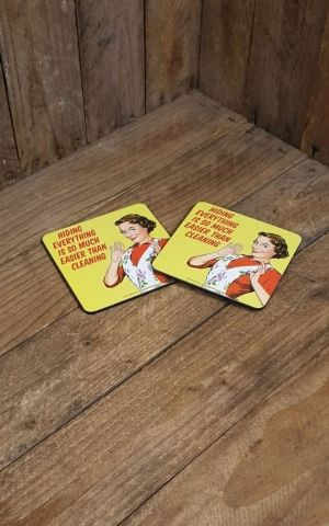 Coasters Set of 2 - Hiding everything