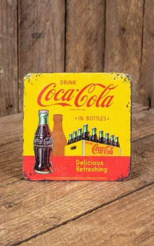 Dessous de verre Coca-Cola - In Bottles Yellow