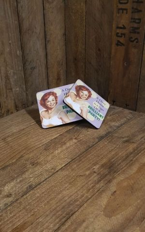 Coasters Set of 2 - A dirty house