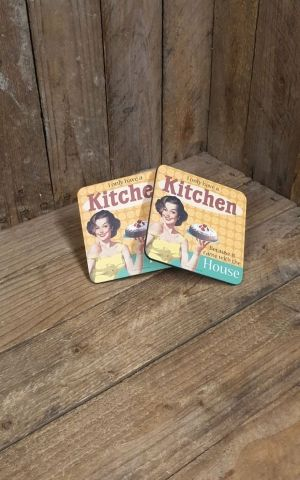 Coasters Set of 2 - I only have a kitchen