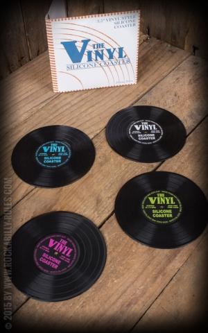 Untersetzer - Vinyl Schallplatte 4er Set