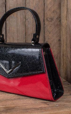 Liquorbrand V8 Glitter Handbag Chevron, red