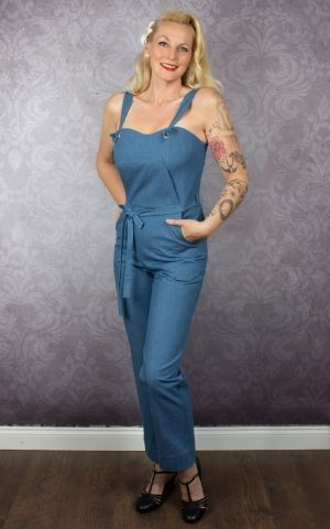 Very Cherry - Classic Summer Jumpsuit Soft Denim
