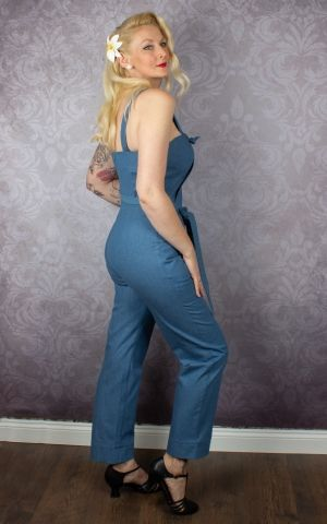 Very Cherry - Classic été Jumpsuit Soft Denim