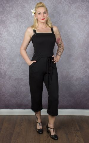 Very Cherry - Sommer Jumpsuit Schwarz