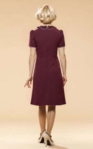 Very Cherry 50s Kleid mit Bubikragen, lila