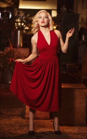 Very Cherry Kleid Marilyn Monroe, rot