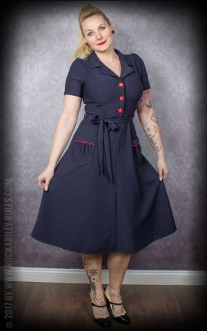 Very Cherry - Kleid Revers Dress, navyblau
