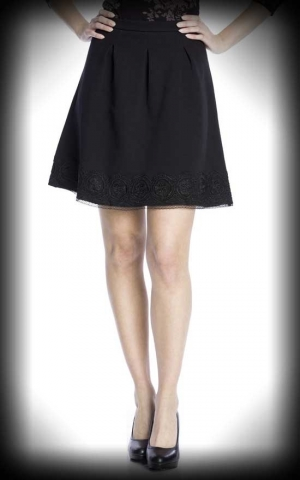 Vive Maria - Skirt Dark Romantic, black allover
