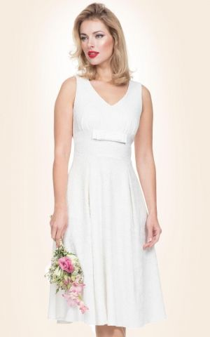 Voodoo Vixen Bridal Flared Dress Monroe