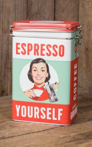 Coffee storage tin - Espresso Yourself
