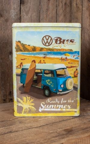 Storage tin XL - VW Bulli, Beetle - Ready for Summer, Ready for Beach