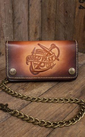 Rumble59 - Cuir Wallet Ancre - sunburst fait main
