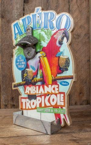 Wandflaschenöffner - Tropicole