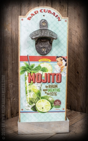 Wall mounted bottle opener - Mojito