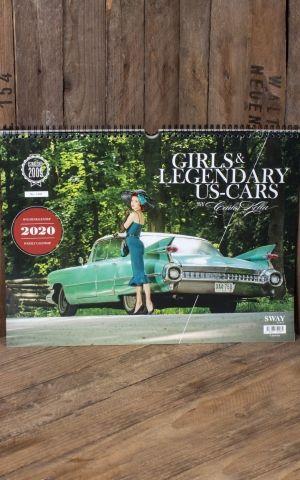 Wandkalender Girls & legendary US- Cars 2020