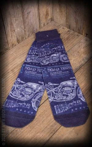 Socks - Men Socks Motorbike, blue