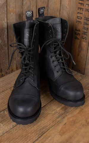 Wood Worker Boots black - fait main