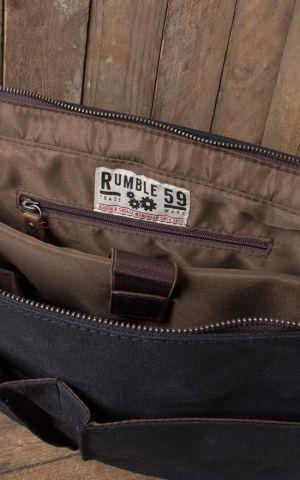 Rumble59 - Canvas Workerbag - The Flathead Garage - schwarz