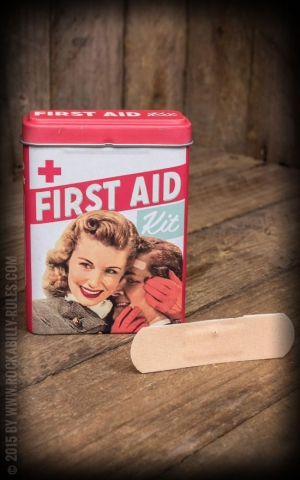Wundpflaster First Aid Kit Retro Paar